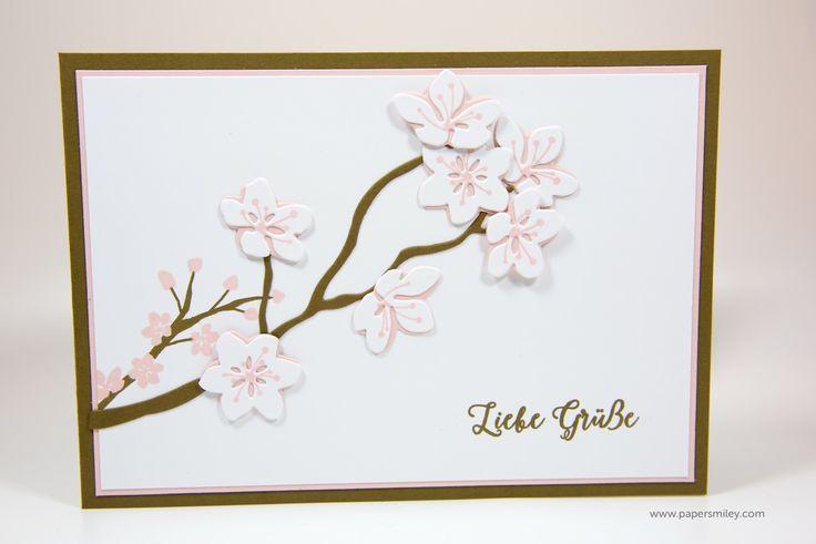 Blütenzweig-Karte mit Stampin' Up! - Produktreihe Farbenspiel: Aus jeder Jahreszeit, Jahr voller Farben