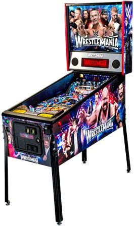 WWE Wrestlemania Limited Edition Pinball Machine | From Stern Pinball |   Get more information about this game at: http://www.bmigaming.com/games-pinball-new.htm