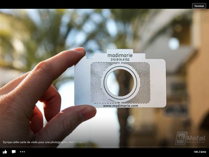 Metal Photographer Cards 20 Creative And Innovative Business