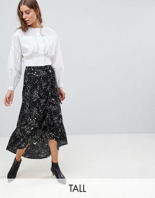 36e3088d9d Vero Moda Tall Star Print Wrap Maxi Skirt | Fashion | Print wrap ...