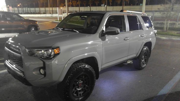 My new TURD! The 2017 4Runner TRD Pro in Cement Grey #4x4 #offroad #Grime #dubstep