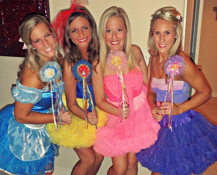 disney princess costumes cinderella snow white sleeping beauty and rapunzel - Disney Princess Halloween Costumes Diy