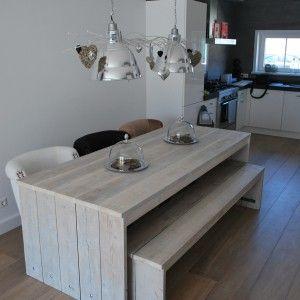 Steigerhout tafel Daniel, E265,--