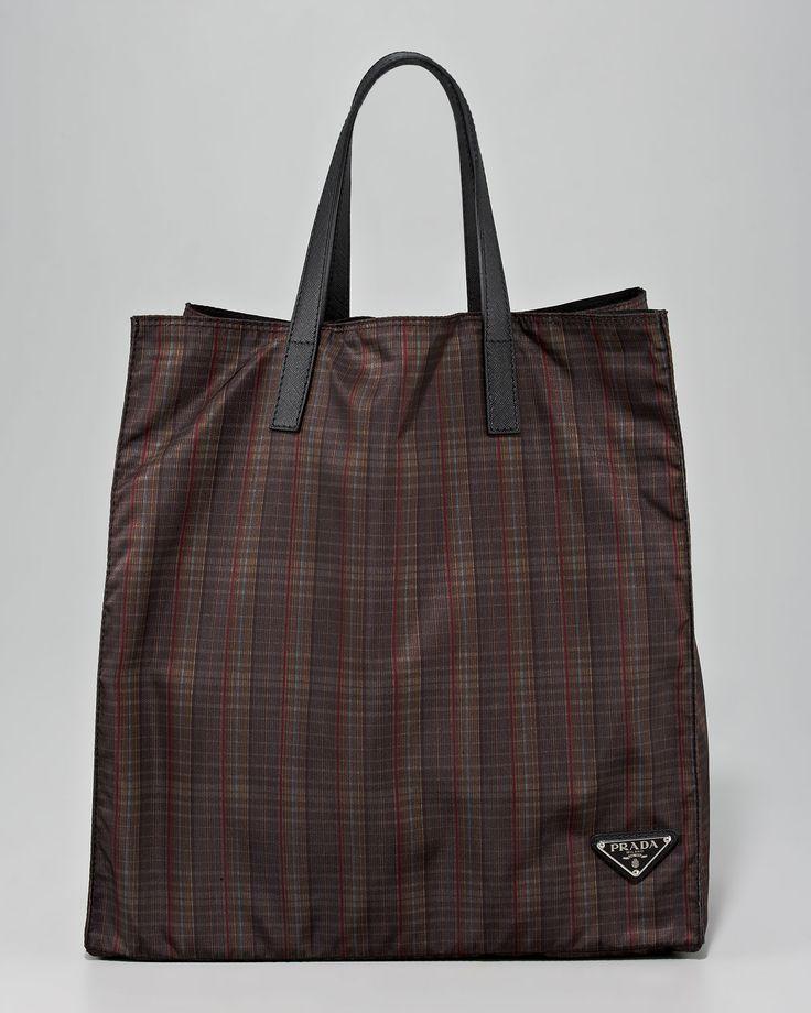 black and white prada handbags - http://harrislove.com/prada-plaid-nylon-tote-bag-brown-plaid-p ...