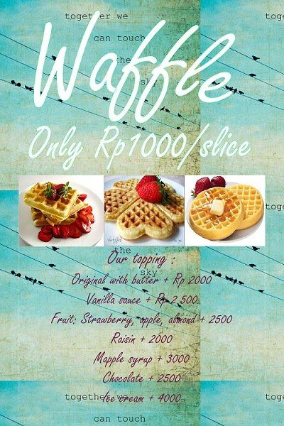 Our Weekend Special Yummy Waffle  Cafedelizioso.com