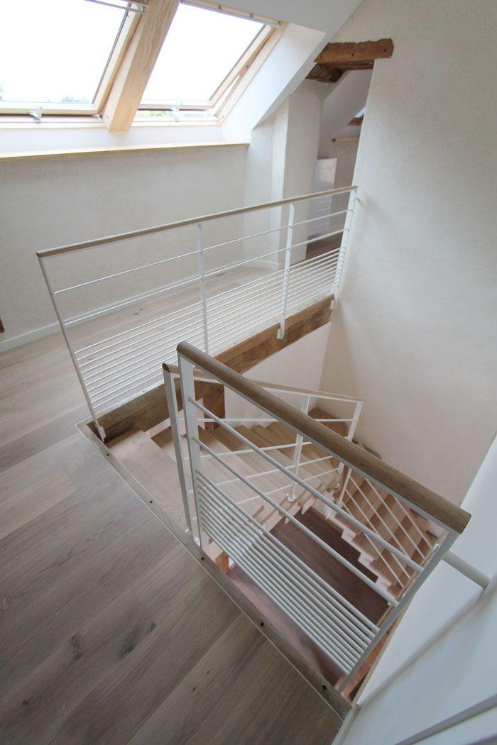 95 best Escaliers   Noir \ blanc images on Pinterest Black stairs - entree de maison avec escalier
