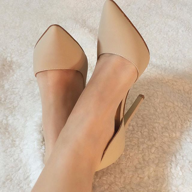 I've they were a bit lower heeled, I'd be a fan of these. Could certainly use a nude pair of heels.