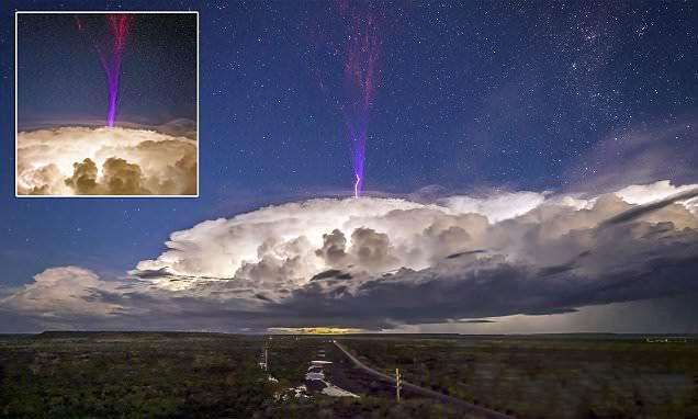 Lightning storm creates a vision against the night sky | Daily Mail Online