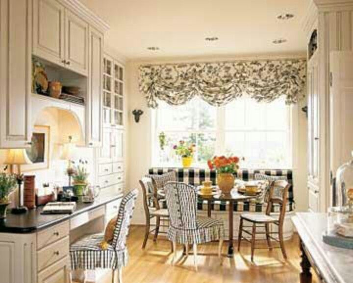Striking Black And White Fabrics Antique Chairs An Wine Tasting Table Combine To Give This Banquette French Country Charm