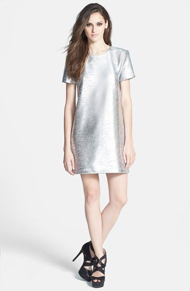 Wayf Metallic Minidress available at #Nordstrom