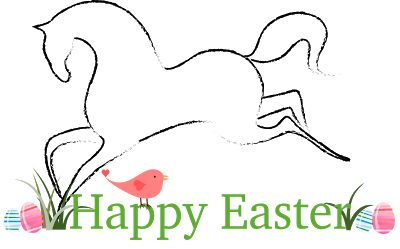 FREE Horse Easter Clipart (Personal and Commercial Use)