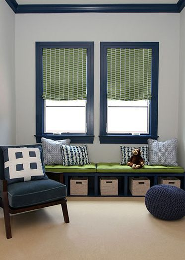 GEORGICA POND: Designer Admirer - Andrew Howard navy and green combination