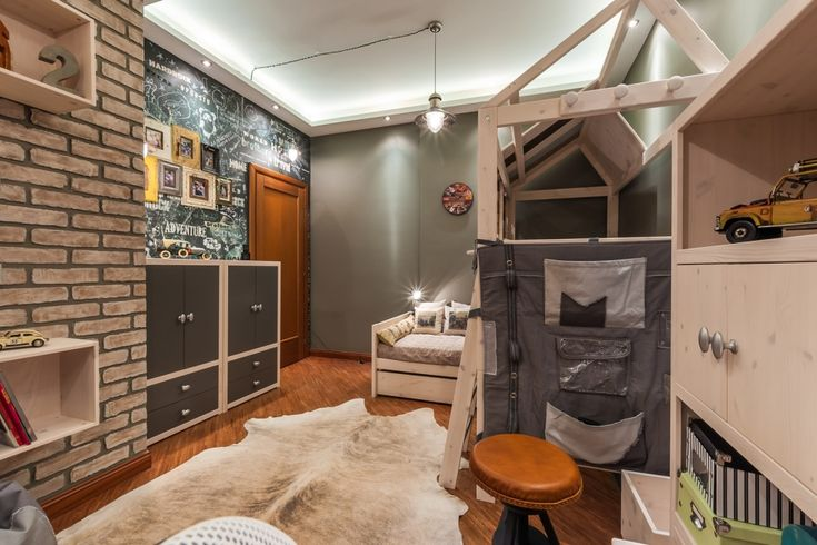 Детская комната в стиле лофт / Дизайнер Елена Скутова оформила интерьер детской комнаты для двух братьев