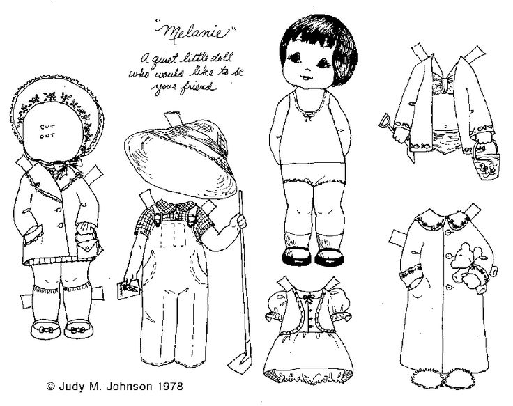 17 Best images about Paper doll coloring pages on Pinterest ...