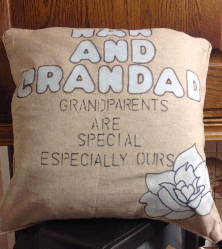 Hand painted cushion with a special message
