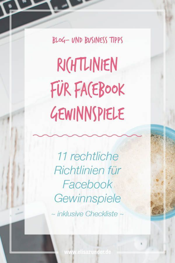 Checkliste Fur Facebook Gewinnspiele Was Muss Man Beachten Soziales Medienmarketing Gewinnspiel Facebook