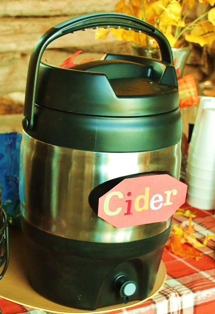 Homemade apple cider - 2 jugs apple juice, 1 2 liter ginger ale and 2 ...