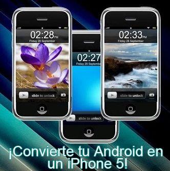¿iPhone 5 en tu Android? Con iPhone 5 Launcher (Lock Screen) puedes tener la apariencia del iPhone 5 en tu dispositivo móvil Android. Además, contiene 5 temas de diseño para seleccionar.  http://descargar.mp3.es/lv/group/view/kl231005/iPhone_5_Launcher_Lock_Screen_.htm?utm_source=pinterest_medium=socialmedia_campaign=socialmedia   #android #iphone