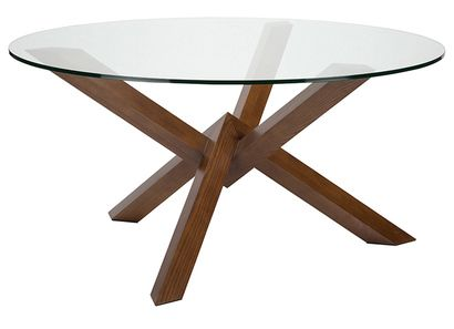 """Nuevo Costa Glass 59.25""""""""W Dining Table in Clear"""