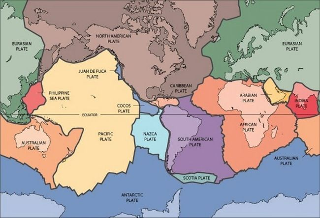 Today, the pieces of Earth's broken shell are unequal in size. Of about 50 plates, a mere seven account for 94 percent of the surface. The biggest, the Africa and the Pacific plates, are antipodal, meaning they sit on opposite sides of the Earth. But about 100 million years ago, the tectonic plates tiled the planet as evenly as a real-life jigsaw puzzle.