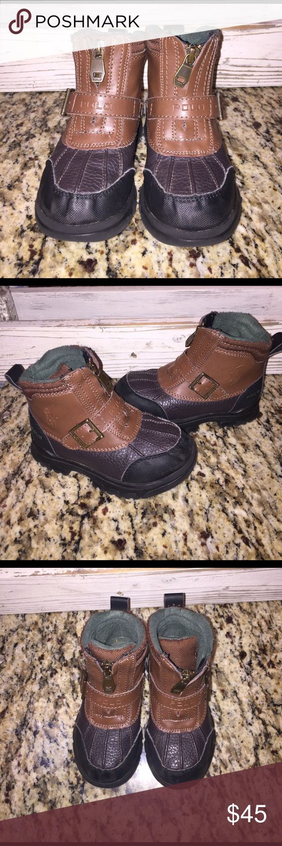 Toddler Polo Boots Size 9. Perfect condition! My items come from a pet free and smoke free home. Same or next day shipping! Polo by Ralph Lauren Shoes Boots