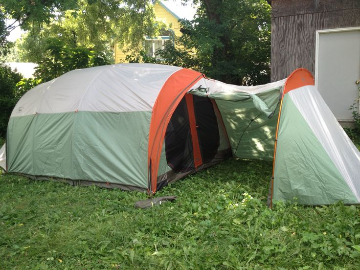 Our new motorcycle camping tent Rei s kingdom 8 with a