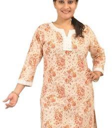 Buy Dorabella Women's Designer Cotton Kurti [N1174A_Beige] kurtas-and-kurti online