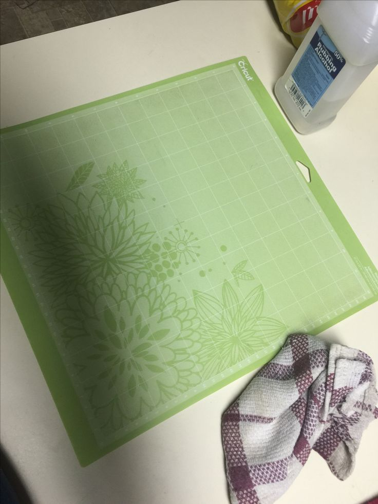 Use rubbing alcohol to clean your cricut mat. Just pour a little on the mat rub it around and take a rag and wipe it off. Take the mat and wave it in the air and dry it and it will be sticky!! I did it twice took me a min!!!!!!!!