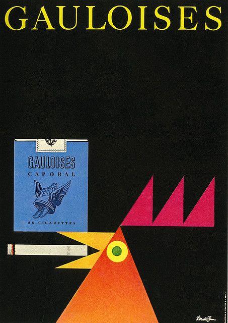 Vintage Gauloises poster