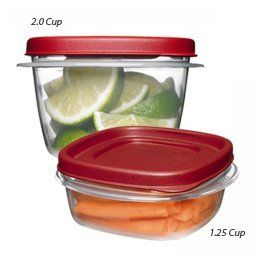 """NEWELL RUBBERMAID HOME FG7J94VPCHILI """"SERVIN SAVER PLUS"""" DURABLE FOOD CONTAINER by Rubbermaid. $6.99. Thick. Recessed area on lid.. Lids and bases nest together. """"NEWELL RUBBERMAID HOME"""" SERVIN SAVER PLUS DURABLE FOOD CONTAINER. Durable construction.. """"NEWELL RUBBERMAID HOME"""" SERVIN SAVER PLUS DURABLE FOOD CONTAINER  Contains:  qty 2 - CUPS 296 ML  qty 1 - 2 CUPS 473 ML  Thick  Durable construction.  Lids and bases nest together.  Recessed area on lid.  Secure sta..."""
