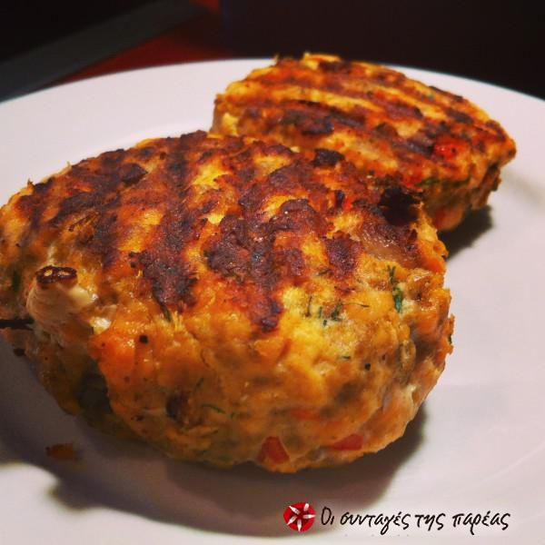 Μπιφτέκια σολομού (Salmon patties/ Salmon cakes) #sintagespareas