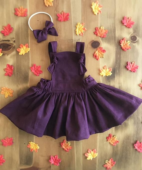 Purple and Floral pinafore dress 3T