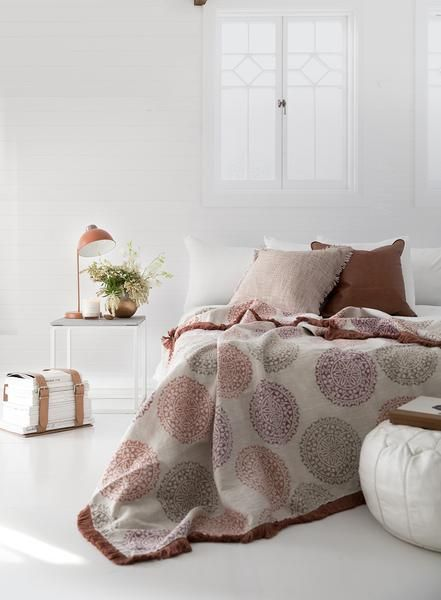 handblockprinted & designed in melbourne is this pure Linen Mandala throw.... Use code AUSDAY17 to get 25% off storewide