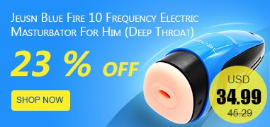 Jeusn Blue Fire 10 Frequency Electric Masturbator For Him (Deep Throat)