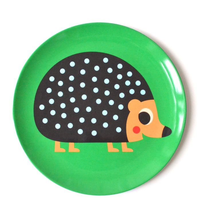 Retro Hedgehog Plate by Ingela P Arrenhius (£7.75) Gorgeous, fun and quirky gifts for you and your home Hunkydory Home