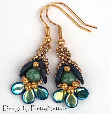 Easy Pretty Beaded Earrings You've Got to Make! ~ The Beading Gem's Journal