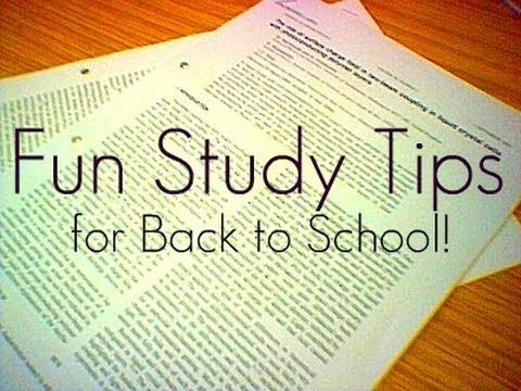 Back To School: Fun Studying Tips!