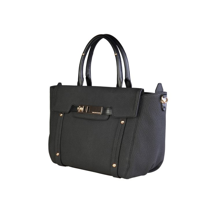 Trussardi – 75B252  2016 F/W Collection handbag of eco-leather has 100% PL interior, zip fastening, 2 handles, removable shoulder strap, 1 exterior pocket with metallic fastening and a dust bag. Inside it, there are 1 zipped pocket and 2 pockets. It is of size 39*24*18 cm.   https://fashiondose24.com