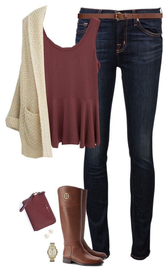#fall #outfit / White Knit Cardigan + Tall Boot