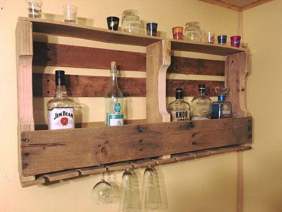 Vino r stico plataforma y estante de licores las mejores ideas sobre plataforma r stico y soporte - Estantes para vinos ...