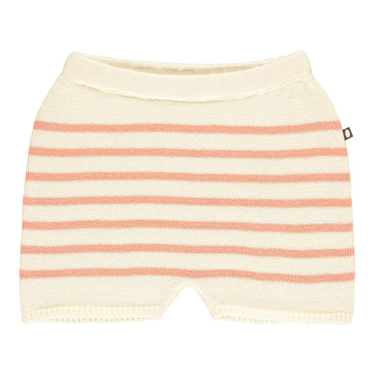 Oeuf NYC Short Maille Rayé Corail