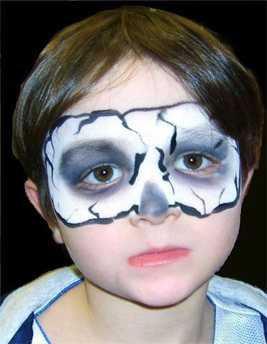face painting on boys in houston - Halloween Skull Face Paint Ideas