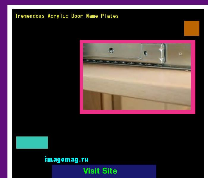 Tremendous Acrylic Door Name Plates 114349 - The Best Image Search