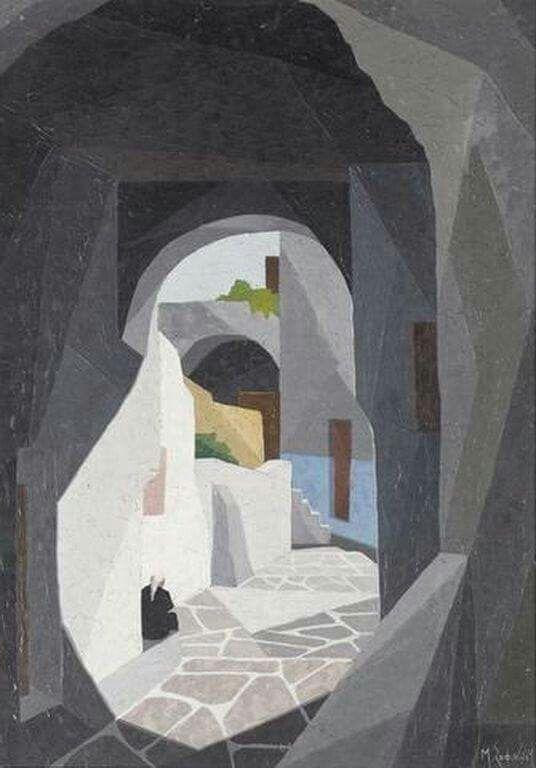 Μάνος Σοφιανός (1922-1986) : Νησιώτικο σοκάκι