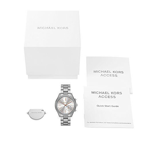 Michael Kors Access Hybrid Silver Slim Runway Smartwatch MKT4004 159.99  #41mmCaseDiameter #Analog-quartzMovement #LithiumBatteryCr2430,3VIncluded #MichaelKors #MKT4004 #OneSize #Silver/Rose Exceptionally sleek and streamlined, this polished timepiece features a slim silhouette that gives it a minimalist look and feel. Our iconic Runway watch is
