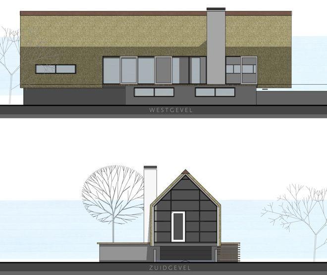 huis op smalle kavel met souterrain, tuin op het noorden! plafonds in  zicht