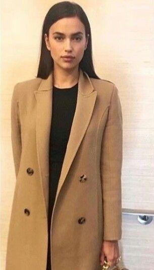 a36ea68b7ea Irina Shayk beautiful and stylish wearing a Max Mara Scout camel hair coat.  Click To buy #irinashayk #irinashaykstyle #maxmara #affiliatelink  #shopthelook ...