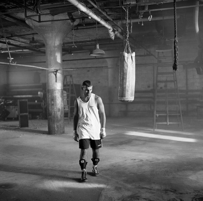 Peter Marlow  USA. New York. NYC. 'Prince' Naseem Hamed making a television commercial for his sponsor Adidas. 1996.