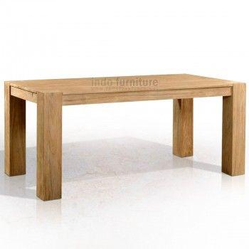 Meja Makan Jati dengan kaki meja yang besar, ini memberi kesan yang unik dan elegan. Meja yang cucup panjang dan muat banyak orang. Nikmati santapan bersama keluarga besar Anda.