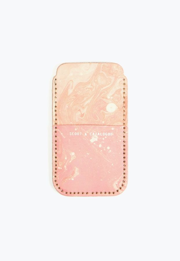 Scout & Catalogue Sierra Phone Sleeve in Pink Marble
